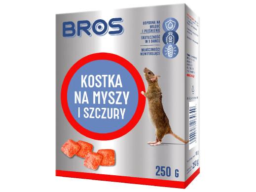Kostka na myszy i szczury Bros 250g