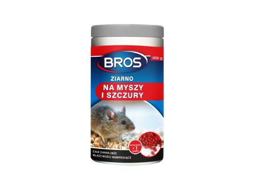 Ziarno na myszy i szczury Bros 300g