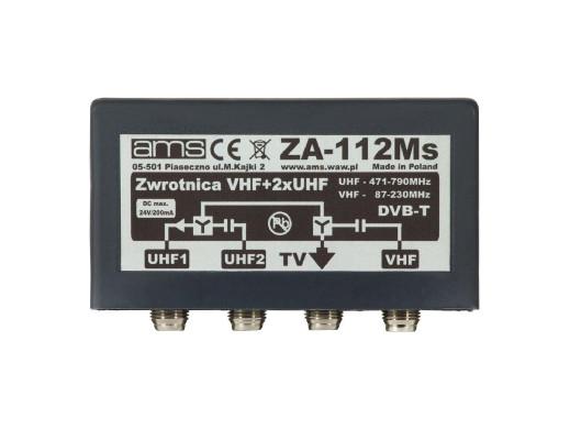 Zwrotnica antenowa ZA-112Ms VHF+ 2xUHF AMS