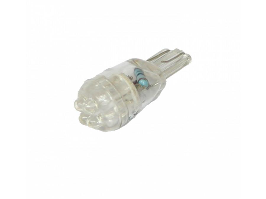 Dioda LED samochodowa 10mm biała 4 LED 12V 194-4W