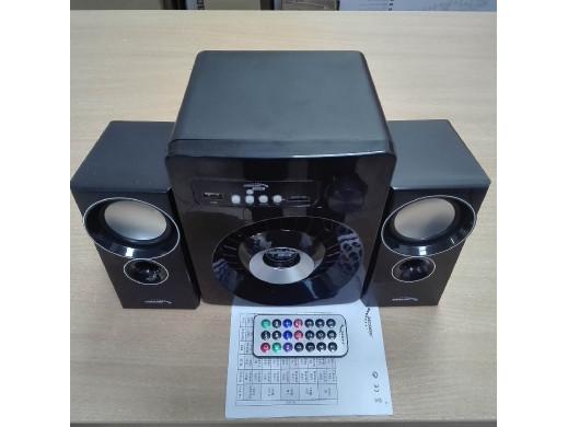 Zestaw głośników Bluetooth 2.1 Audiocore AC910 radio FM, wejście kart TF, AUX, zasilanie USB POSERWISOWY Ślady używania,drobne