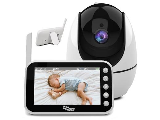 """Bezprzewodowa niania elektronicza Promedix, zasięg do 300m, 4,5"""" wyświetlacz , rozdzielczość kamerki 1280*720P, night vision, ko"""