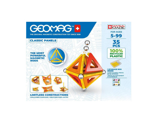 Klocki magnetyczne Geomag Eco Panels 35el. GEO-470