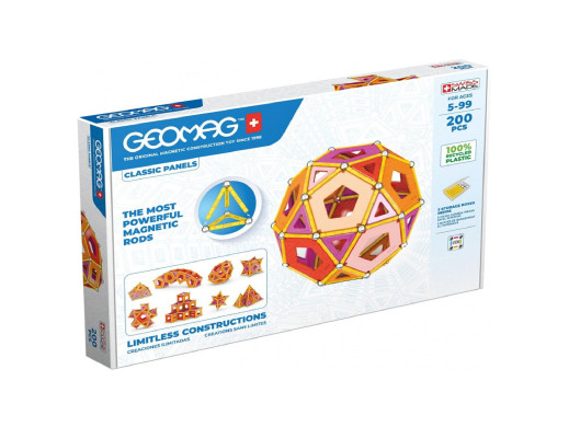 Klocki magnetyczne Geomag Eco Panels 200el.GEO-474