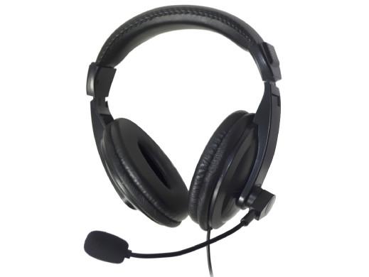 Słuchawki z mikrofonem 1x jack 3,5mm Vakoss SK-608HV