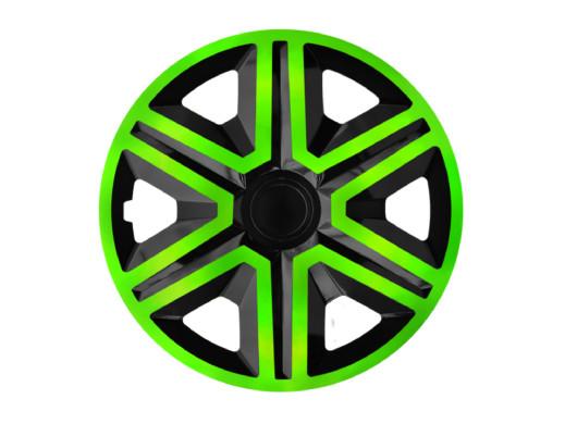 """Kołpak 14"""" ACTION Doublecolor green/black 4szt"""