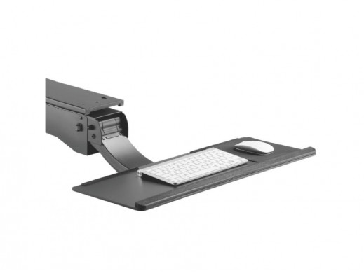 Uchwyt na klawiaturę podbiurkowy regulowany MC-795 do pracy stojąco - siedzącej max zmiana 34cm  POSERWISOWY Otarcia lakieru