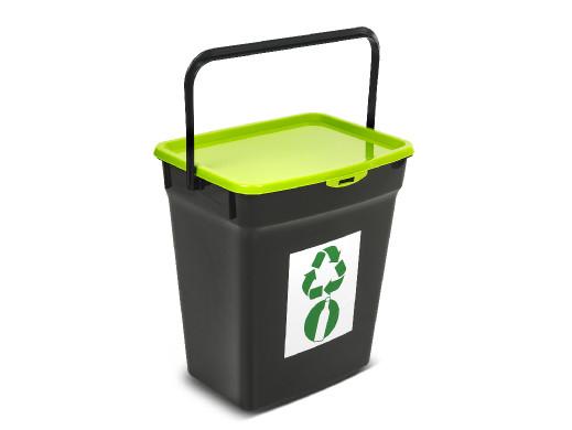 Kosz do segregacji śmieci Plast Team 10L zielony