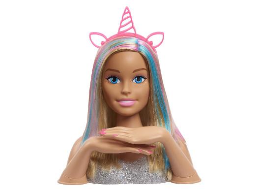 Głowa do stylizacji Barbie Glitter Hair Deluxe Styling