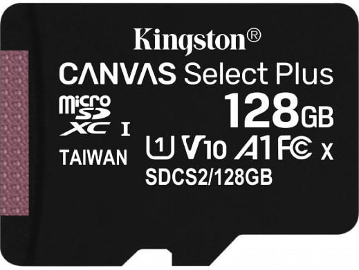 Karta pamięci mikroSD 128GB class10 Canvas Kingston