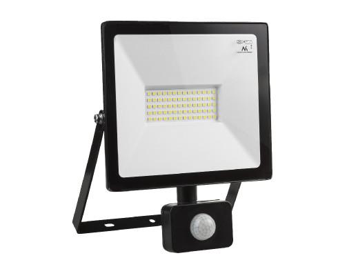 Naświetlacz LEDz czujnikiem ruchu Maclean, slim 50W, 4000lm, barwa ciepła biała (3000K), IP44, MCE650 WW PIR