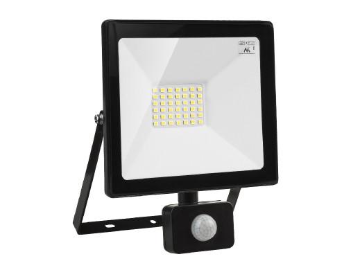 Naświetlacz LED z czujnikiem ruchu Maclean, slim 30W, 2400lm, barwa neutralna biała (4000K), IP44,  MCE630 NW PIR