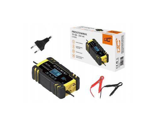 Prostownik samochodowy LTC z LCD do akumulatorów