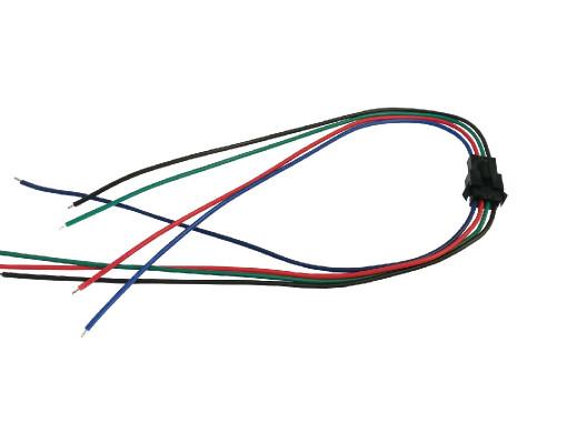 Złącze LED 4 pin wtyk-gniazdo na przewodzie do taśm RGB 40cm