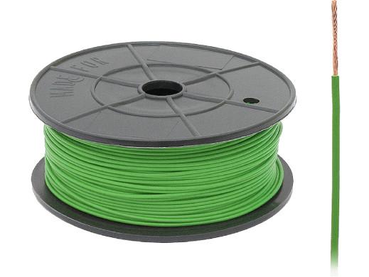Kabel pojedyńczy 0,22mm FLRY zielony