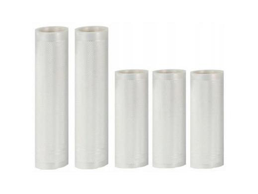 Uniwersalny zestaw folii Camry do zgrzewarek próżniowych (2rolki 28x300cm+3rolki 20x300cm)