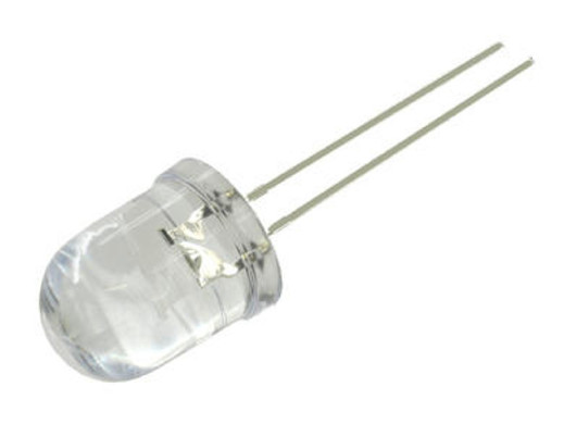 Dioda LED 10mm biała 10st 3,2V 20mA