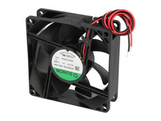 Wentylator 80x80x25mm ślizgowy 12V 2 przewody EF80251S2-1000U-A99  Sunon