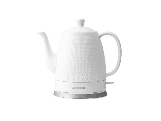 Czajnik elektryczny ceramiczny 1,5l Concept RK0070 biały