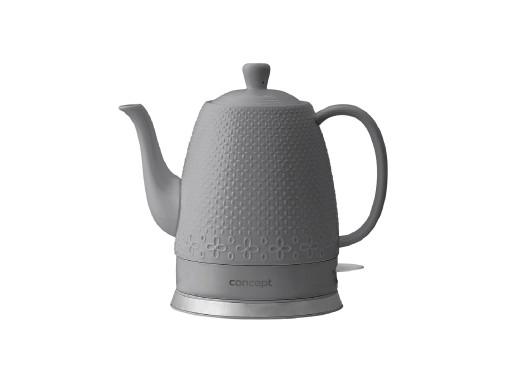 Czajnik elektryczny ceramiczny 1,5l Concept RK0071 szary