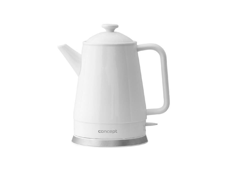 Czajnik elektryczny ceramiczny 1,5l Concept RK0080 biały