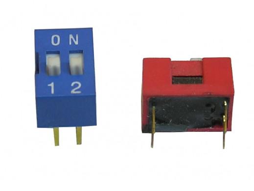 Przełącznik  DIP switch 2 tory
