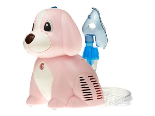 Inhalator kompresorowy Omnibus Puppy BR-CN171 różowy