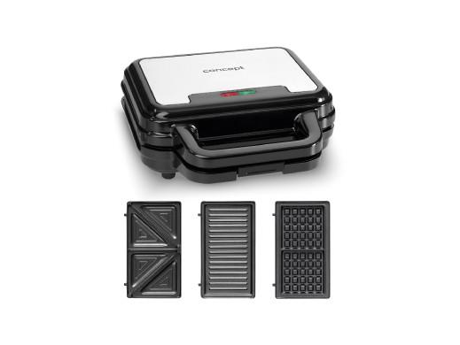 Opiekacz do kanapek z wymiennymi płytkami 3w1 700W Concept SV3060