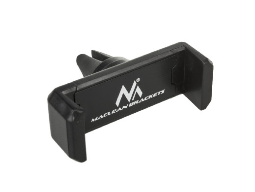 Samochodowy uchwyt do telefonu Maclean, uniwersalny, do kratki wentylacyjnej, rozstaw min/max: 54/87mm  materiał: ABS, MC-321