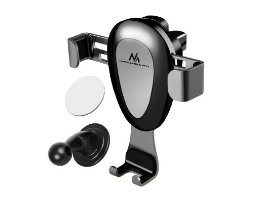 Samochodowy uchwyt do telefonu Maclean, uniwersalny, do kratki wenylacyjnej, grawitacyjny, max. rozstaw 90mm, MC-324