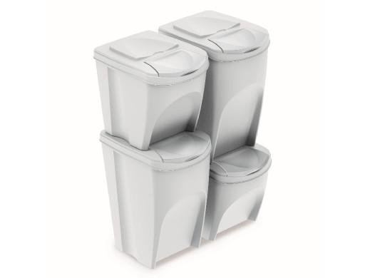 Zestaw koszy do segregacji Sortibox2x25L+2x35L białe IKWBMS4