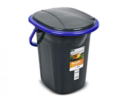 Toaleta turystyczna GreenBlue GB320BB czarno-granatowa POSERWISOWA Posiada zarysowania.