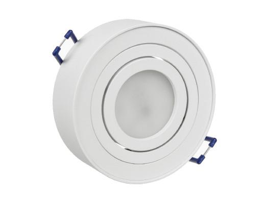 Punktowa oprawa sufitowa Maclean, dla źródeł światła MR16/GU10, kolor biały, 94x32mm, okrągła, aluminiowa, MCE462 W