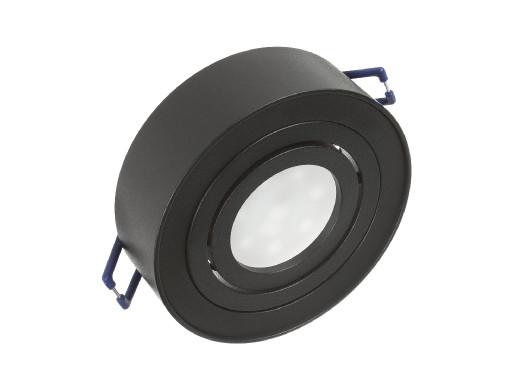 Punktowa oprawa sufitowa Maclean, dla źródeł światła MR16/GU10, kolor czarny, 94x32mm, okrągła, aluminiowa, MCE462 B