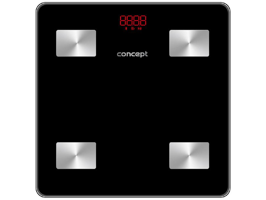 Waga łazienkowa diagnostyczna Concept czarna VO4001