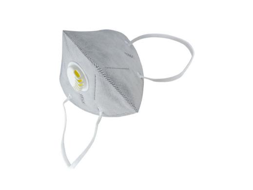 Maska filtrująca KN95 szara z zaworkiem