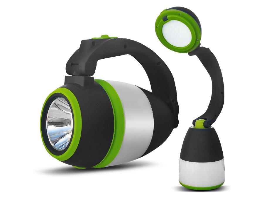 Lampa LED 3w1 Maclean, kempingowa, biurkowa, latarka, 1W, 60-200lm, Cold White 6000K, 18650 1500mAh, funkcja powerbanku MCE298
