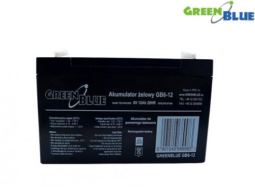 Akumulator żelowy 6V 12Ah GreenBlue GB6-12