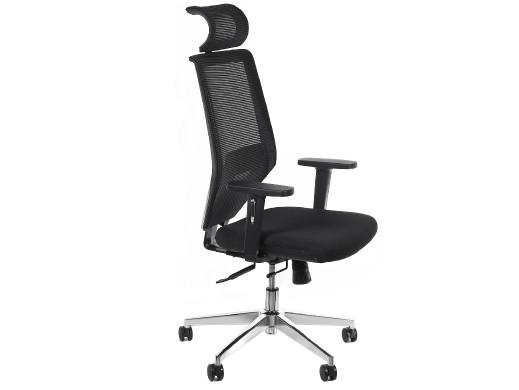 Fotel biurowy ergonomiczny 6D Hi-Tech regulowany zagłówek, podparcie pleców, wys. oparcia, wys. GreenBlue  GB181 POSERWISOWY  N