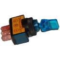 Przełącznik hebelkowy podświetlany ASW-14D 12V lizak niebieski