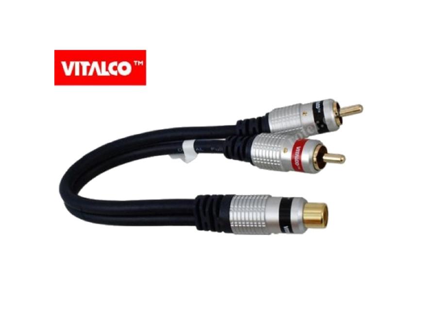 Przewód, kabel 2 wtyki-gniazdo cinch 0,2M Vitalco