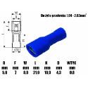 WSUWKA ŻEŃSKA 4,8mm NIEBIESKA IZOLOWANA 601013