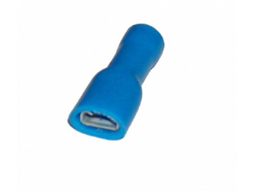 Wsuwka żeńska 6,3mm niebieska izolowana 601012