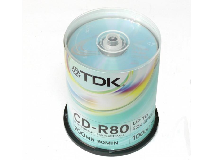 Płyta CD-R TDK 700MB bez opakowania