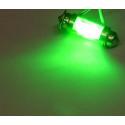 Dioda LED samochodowa FT10X36-6G zielona wewnetrzna 12V