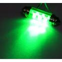 Dioda LED samochodowa zielona FT10X42-6G wewnętrzna