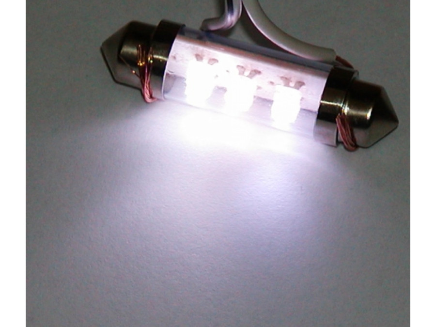 Dioda LED samochodowa  FT10X42-6W biała wewnętrzna