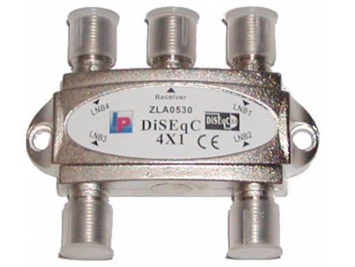 Złącze SAT DiSEqC, 4x1 mini