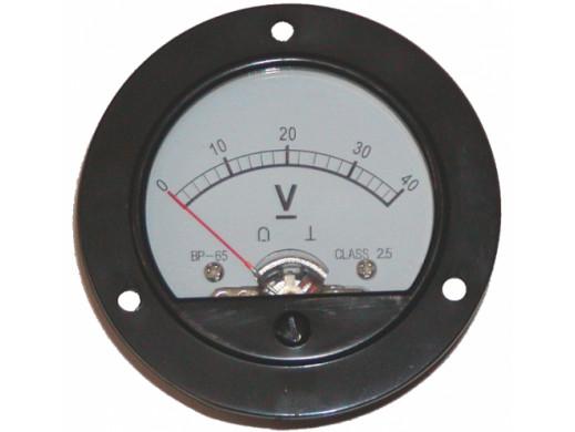 Voltomierz analogowy okrągły 40V+ bocznik BP-65
