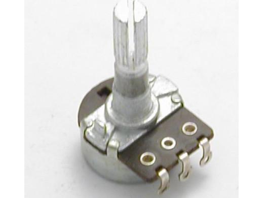 Potencjometr ośka długa 1*100K B 25mm logarytmiczn